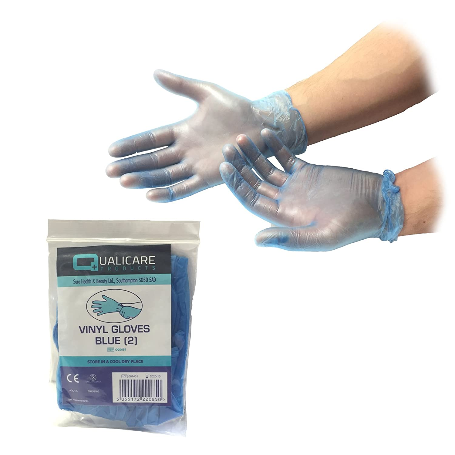 10 PAIRS OF LARGE PREMIUM DISPOSABLE POWDERED VINYL NON-STERILE CLEAR LATEX FREE FIRST AID DURABLE PROTECTIVE MULTIPURPOSE LAB TATTOO VET DENTIST MECHANIC MEDIC GLOVES