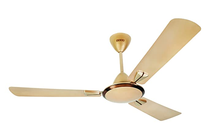 Buy Usha Striker Galaxy 1200mm 80-watt Goodbye Dust Ceiling Fan with Anti Dust Feature (Bright Gold) Online at Low Prices in India - Amazon.in