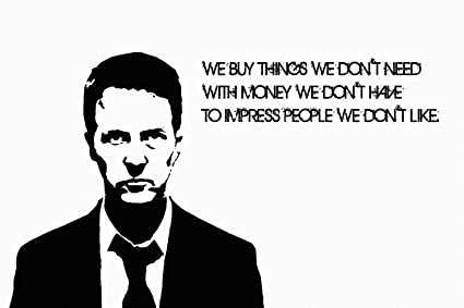 Fight Club Quotes Inspiration Amazon Fight Club Quotes Black White Silk Poster 48x48 Inches