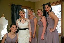 Diyouth Long Spaghetti Straps Bridesmaid Dresses
