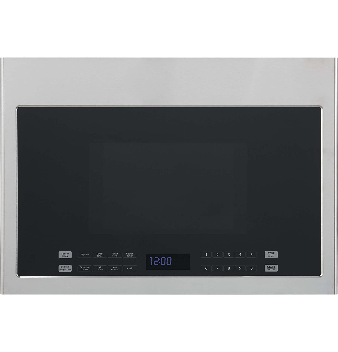 """Haier HMV1472BHS 24"""" Over-the-Range Microwave with 1.3 cu. ft. Capacity 300 CFM Sensor Cooking Hidden Vent 10 Power Levels and 13.6"""" Turntable in Stainless"""