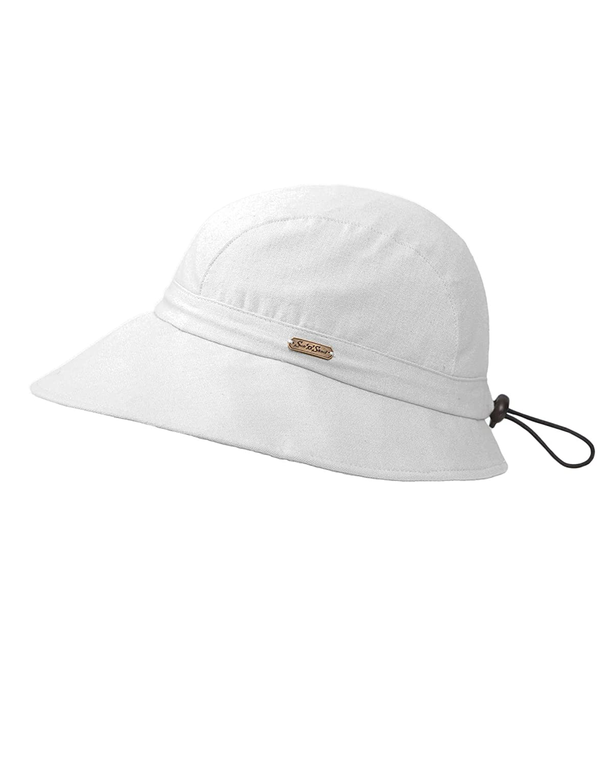 Sun n Sand Breezy Drawstring Hat White One Size 16593%WH
