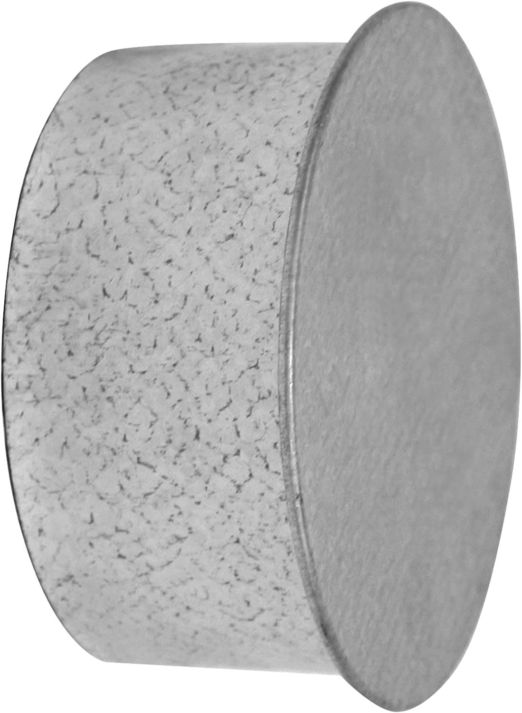 Kamino - Flam – Tapa para tubo de chimeneas, estufas y hornos de leña – acero con revestimiento de aluminio, Plata, Ø 100 mm – resistente a altas temperaturas