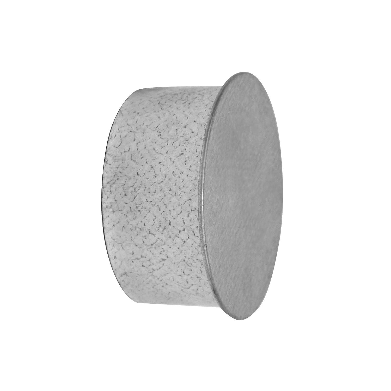 Kamino - Flam - Tapa para tubo de chimeneas, estufas y hornos de leña - acero con revestimiento de aluminio, Plata, Ø 100 mm - resistente a altas ...