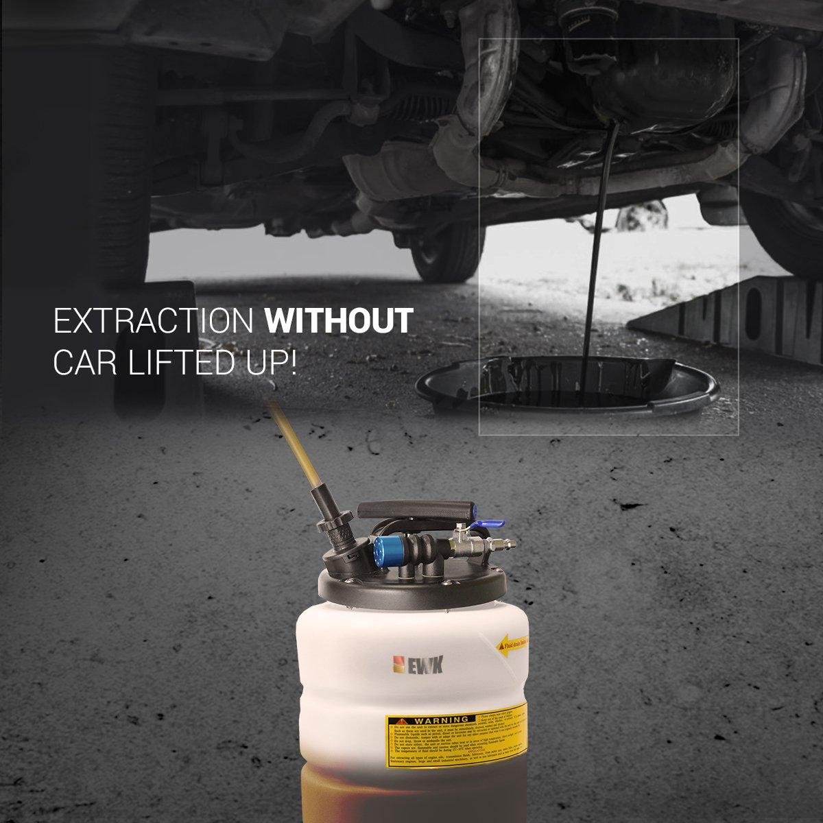 EWK Pneumatic / Manual 15 Liter Oil Changer Vacuum Fluid Extractor Pump Tank Remover by EWK (Image #6)