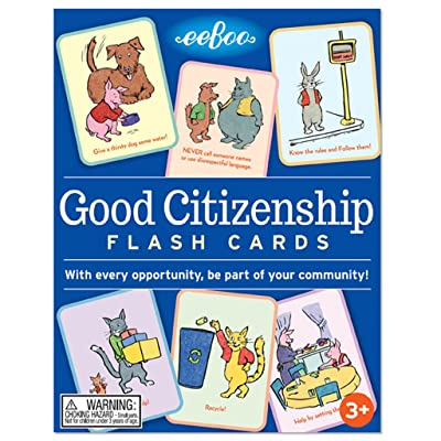 eeBoo Good Citizenship Flash Cards: Toys & Games