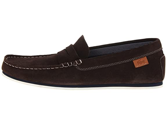 Lacoste Chanler Hombres Zapatos de Negro 7 - 26srm3056 024, Marrón (Café Oscuro), 7 D(M) US: Amazon.es: Zapatos y complementos