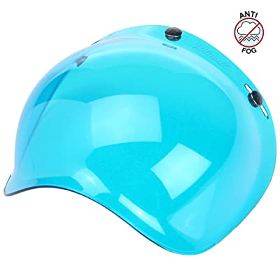 Biltwell unisex-adult (BS-BLU-AF-SD) Bubble Shield-Blue-Anti-Fog, One Size: Automotive