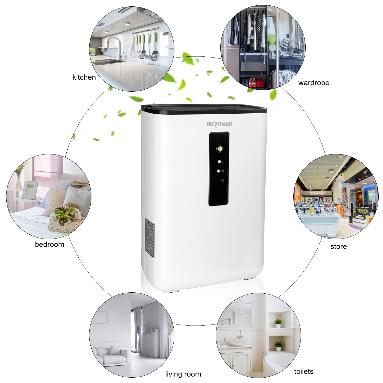 LUOYIMAN Dehumidifier Electric Home Dehumidifier Quiet Operation with UV Sterilization (2.5 Liter) by LUOYIMAN (Image #4)