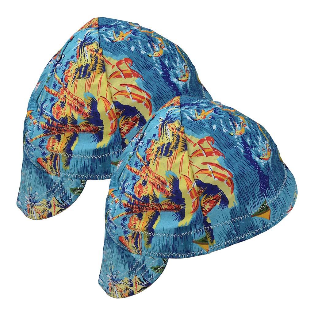 B Blesiya 2X Fashion Elastic Welding Welder Hat Cap Pure Cotton Flame Retardant -Beach