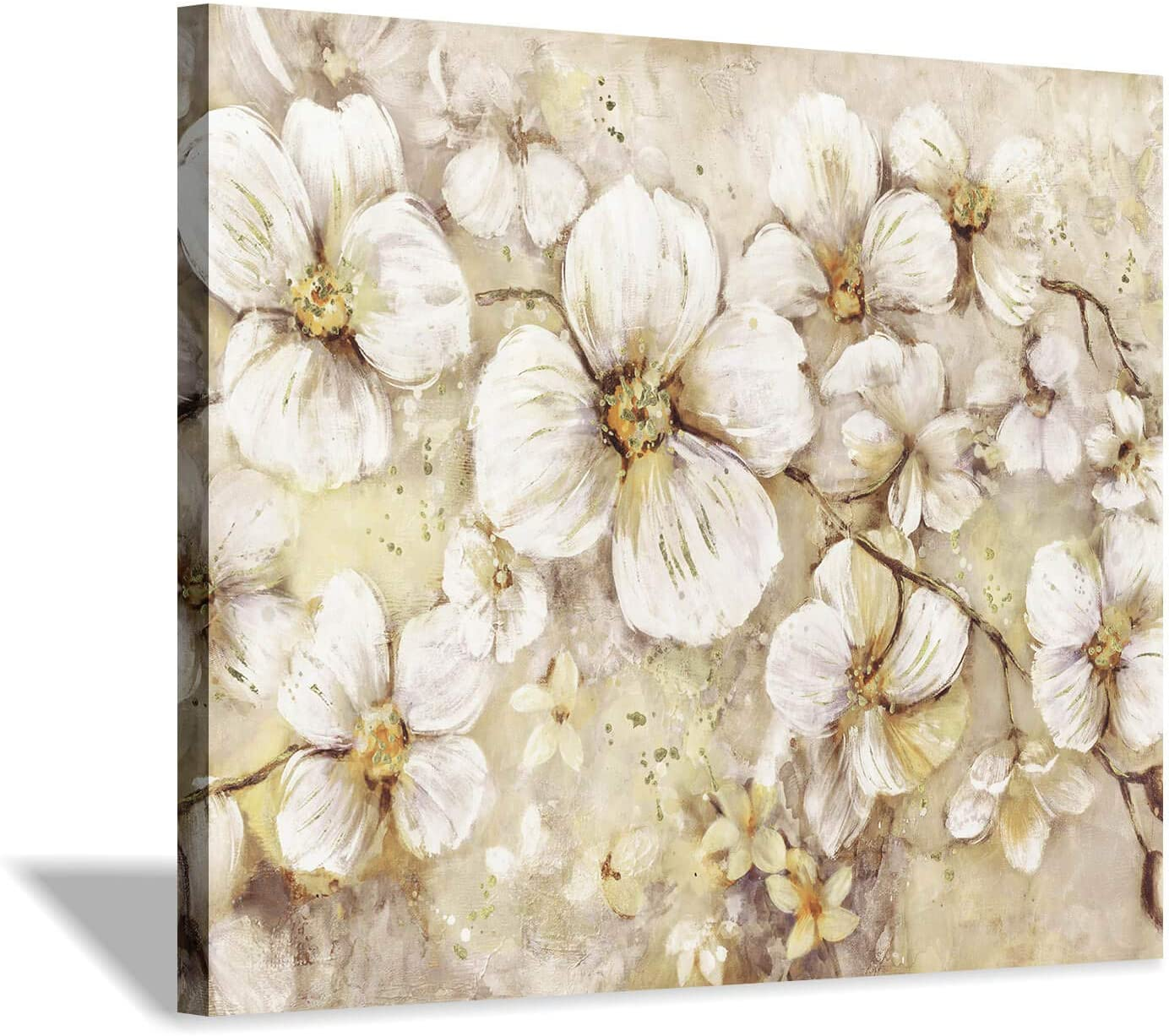 2Pcs Flowers Painting Picture DIY Wall Art Poster Decor for Bedroom Office
