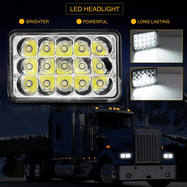 "Kenworth Truck 7/"" Round H4 Headlights Spot Beam Semi Sealed 4x4 Country Driving"