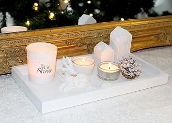 Weihnachtsdeko Holz Modern.Markenlos Kerzenhalter Kerzenständer Winter Weiss Weihnachtsdeko