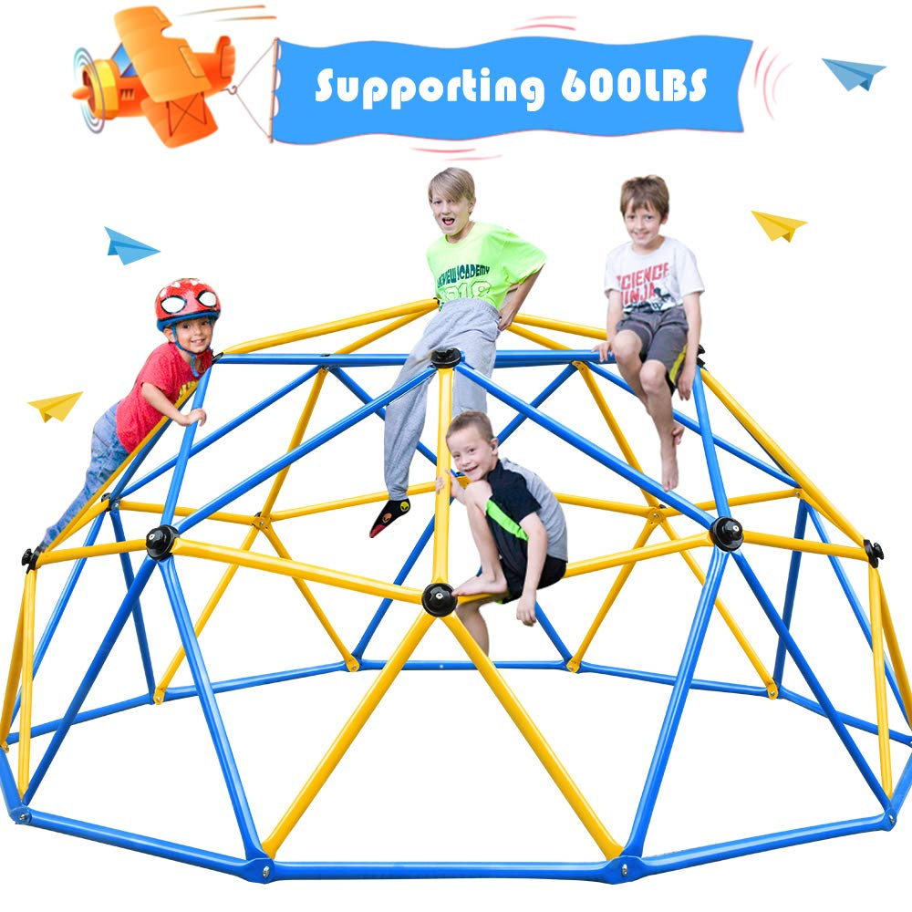 Zupapa Dome Climber, Decagonal Geo Jungle Gym Supporting 600LBS, a Lot of Fun for Kids, Enjoying 2-Year Warranty by Zupapa