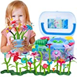 BIRANCO. Flower Garden Building Set - Grow up! Fun Stacking Toys for Toddlers and Kids Age 3-6 Year Olds, Educational Activit
