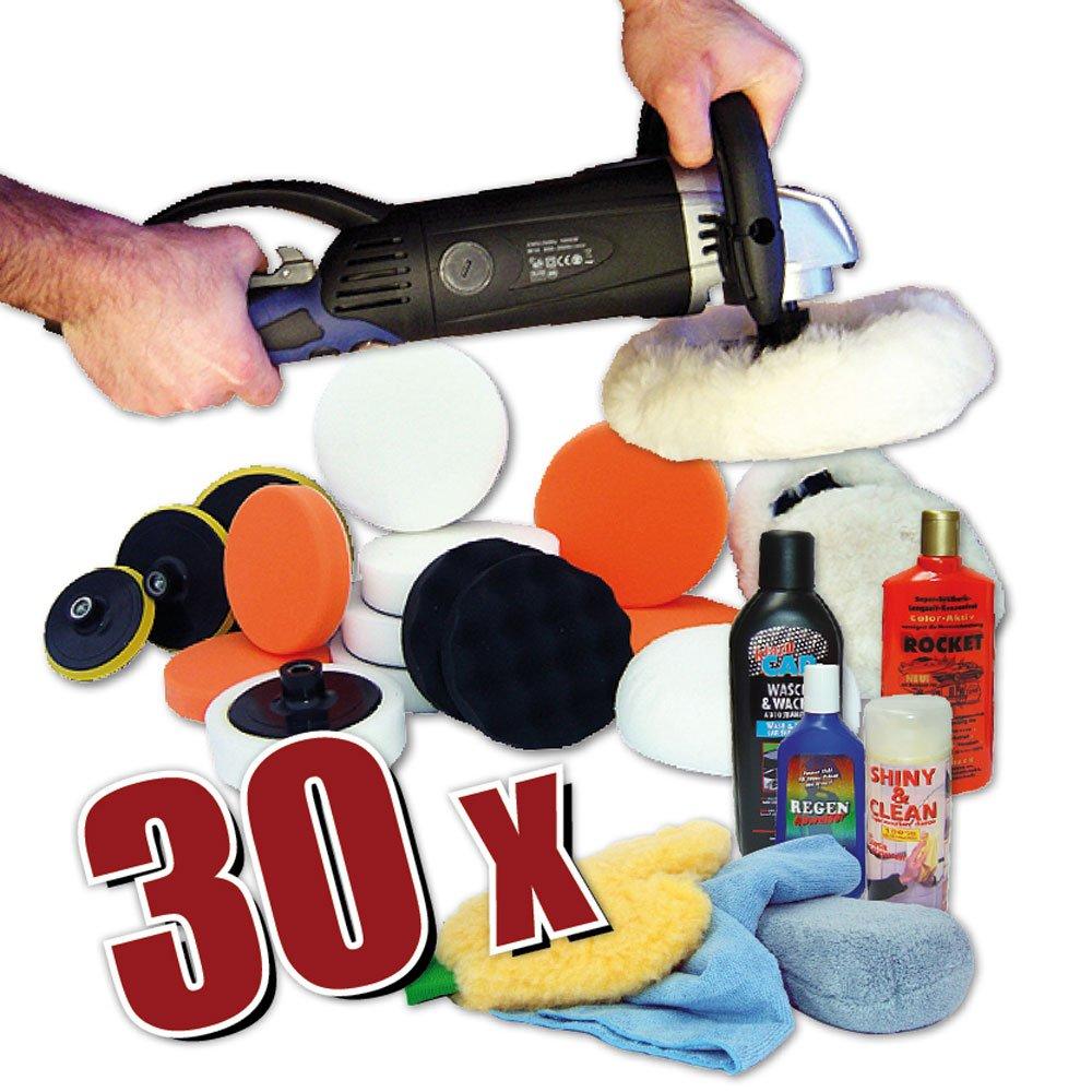 Lucidatore Lucidatrice Professionale Levigatrice, 1600 W Set 4 da pulitura + Display + lucidatura per Macchina 500 ml, 600 a 3000 U/min Kingbarney 400250283