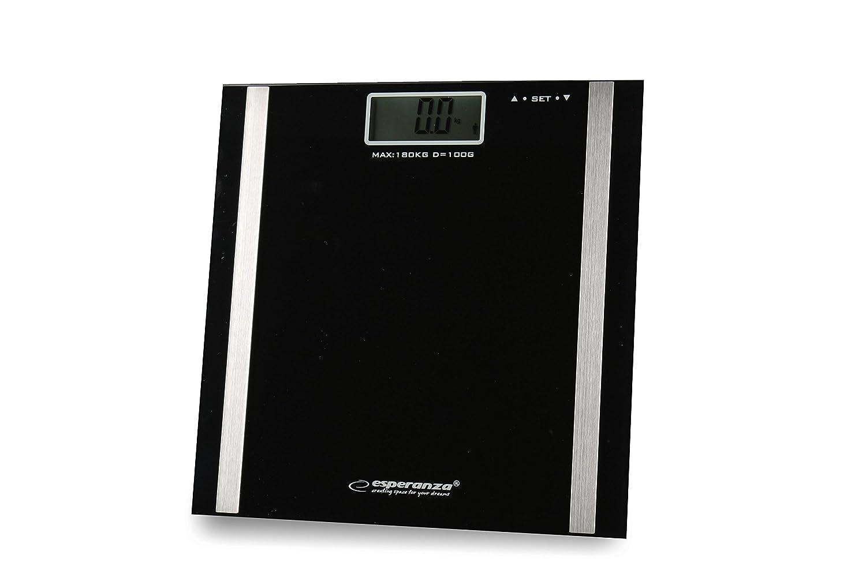 Bilancia impedenziometrica per perdita di peso, allenamento fisico e bodybuilding, misura il peso e la percentuale di massa grassa, massa muscolare, massa ossea e acqua, include 2Batterie AAA Maxell, la bilancia pesapersone per l'analisi del grasso corpor