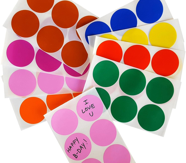 arancione DOT etichette/ 50/mm /Easy Peel adesivo confezione da 48/etichette... marrone e rosa/ blu /colori assortiti: rosso verde Adesivi colorati rotondi 5,1/cm pollici viola giallo