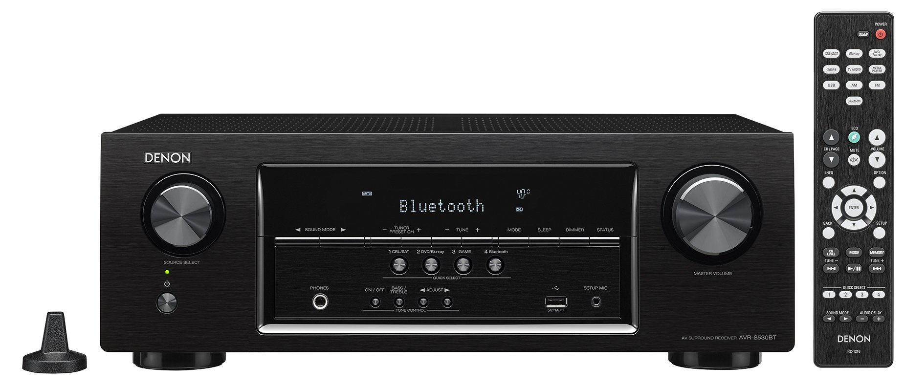 Denon AVRS530BT 5.2 Channel Full 4K Ultra HD AV Receiver by Denon