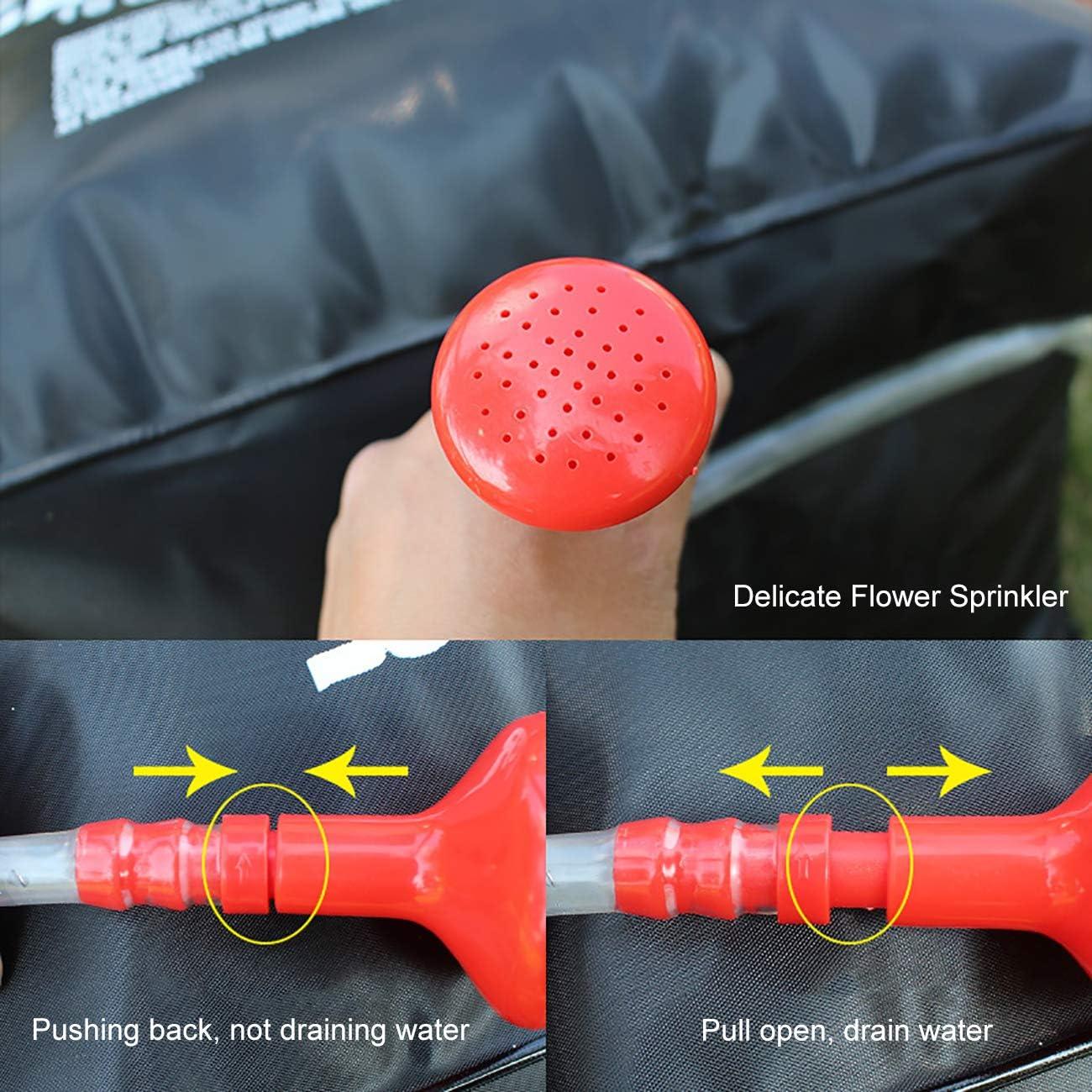 EZCAMP Sac de Douche Solaire 20 litres avec Pommeau de Douche pour Camping Randonn/é Ext/érieur