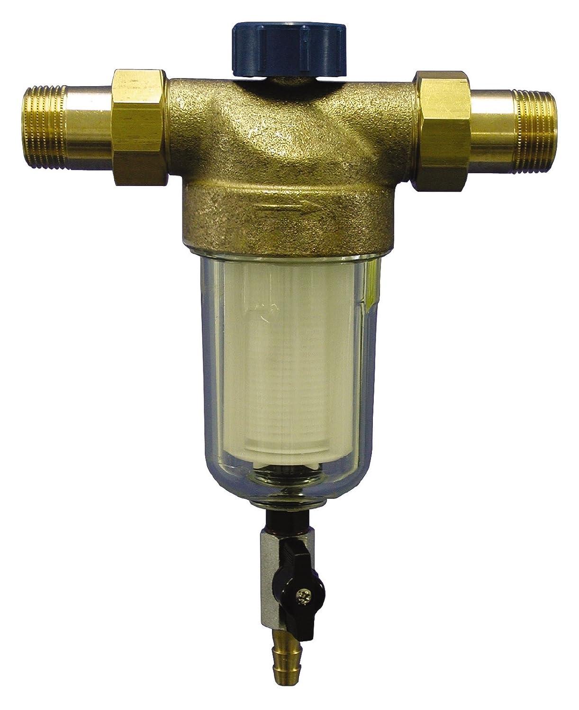 Sanitop-Wingenroth 14326 4 Hauswasserfilter Alfi rü ckspü lbar 1' mit 2 Auß engewinden, 1 Zoll