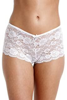 00eb0270d5d6 Camille Womens Ladies Black Mesh Lace Boxer Shorts: Camille: Amazon ...