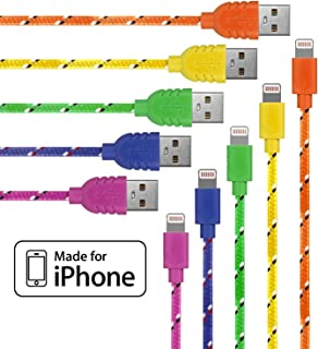 710GgyJqkcL._AC_UL320_SR290320_ amazon com lightning cable for iphone 5 pack braided (3 3 feet  at cos-gaming.co
