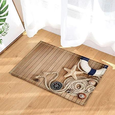 Baño de cocina baño ducha Piso Alfombra de decoración del hogar Antideslizante 60x40cm Estera de puerta