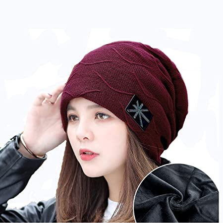 004bbf546c3 Nosterappou Knitted plus hat soft and comfortable hat female winter wool  hat fashion baotou cap warm