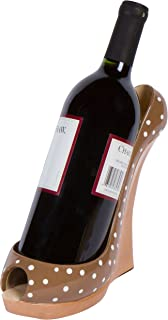 Stylish Conversation Starter Wine Rack By Hilarious Home Teal Dot 8.5 x 7H High Heel Wine Bottle Holder