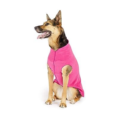 Gold Paw Stretch Fleece Dog Coat Soft Black Warm Dog Clothes Sizes 2-30 Size 2 All Season Stretchy Pet Sweater Machine Washable Eco Friendly