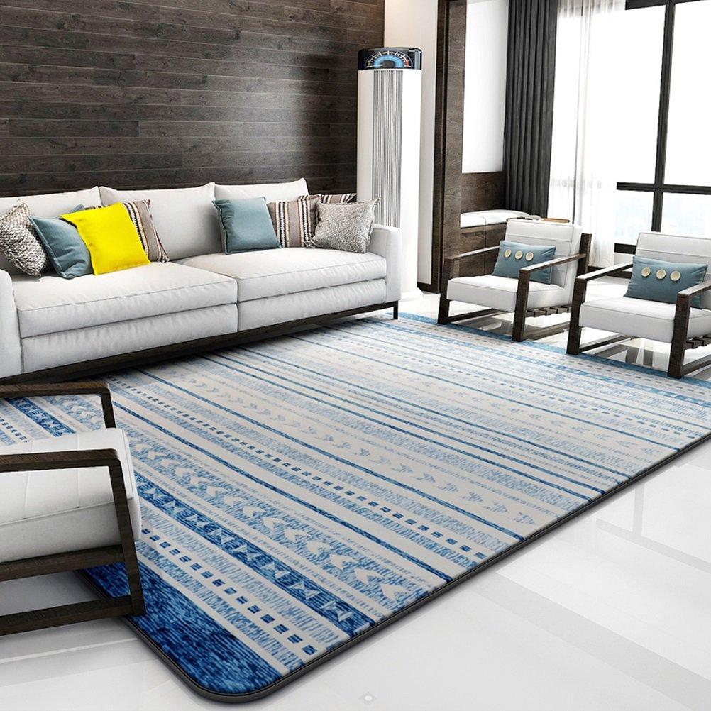 Bath Time Flagship Store LUYIASI- Tapis Salon Table Basse Chambre Chevet Couverture Moderne Minimaliste Gé omé trique Carpet Non-Slip Mat (Couleur : D, Taille : 200x240cm)