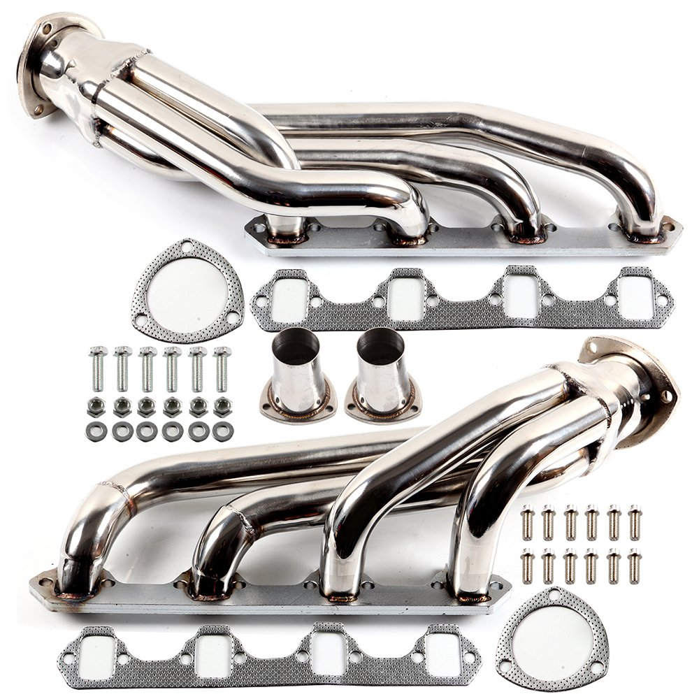 Exhaust Manifolds ECCPP Automotive Replacement Engine Racing Stainless Header Manifold Exhaust Gaskets for 1963-1977 MUSTANG COUGAR V8 260-302 5.0L