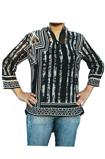 4935fbcc8d3f Nityakshi Women s Georgette Regular Wear Animal Print Top