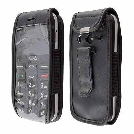 a275976d3c4 caseroxx - Housse de téléphone Portable à Clip pour Doro 1360 1361   1362  en Cuir veritable  Amazon.fr  High-tech