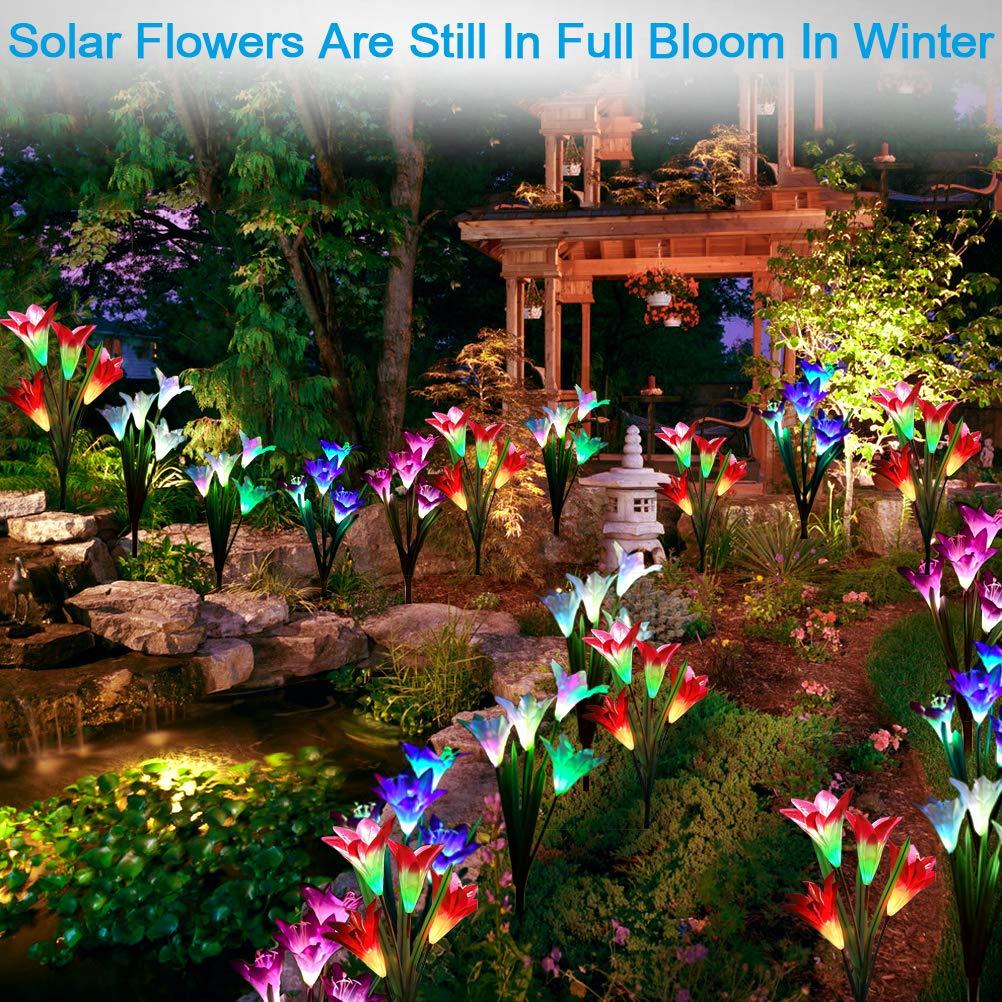 Solar Lights Outdoor, Solar Flower Lights, Solar Garden Lights ...