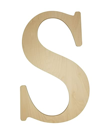 Unfinished Wooden Letter For Wedding Guestbook Or Wall Decor 24 Letter S