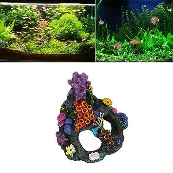 deesee (TM) Acuario decorativo dibujos animados Resina Castillo Castillo de acuarios decoración acuario pecera Torre: Amazon.es: Productos para mascotas