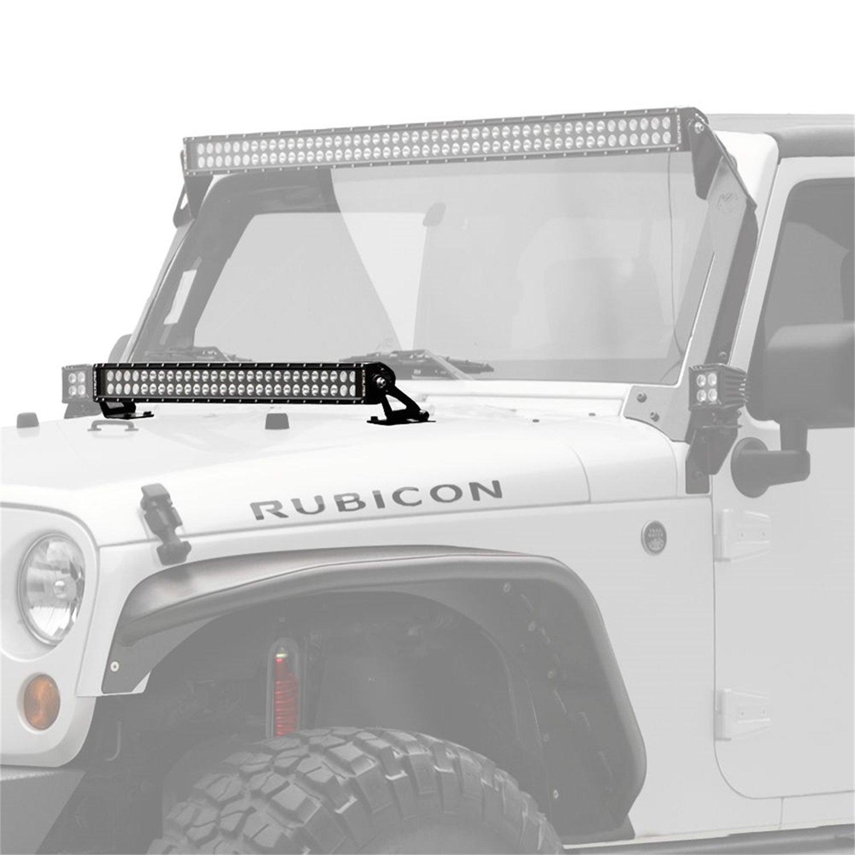 Amazon.com: KC HiLiTES 367 Hood Mount C30 LED Bar and Bracket Kit for Jeep  JK: Automotive