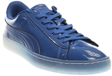 06ad94aee8a95b PUMA Mens Basket Patent Ice Fade Athletic   Sneakers Blue