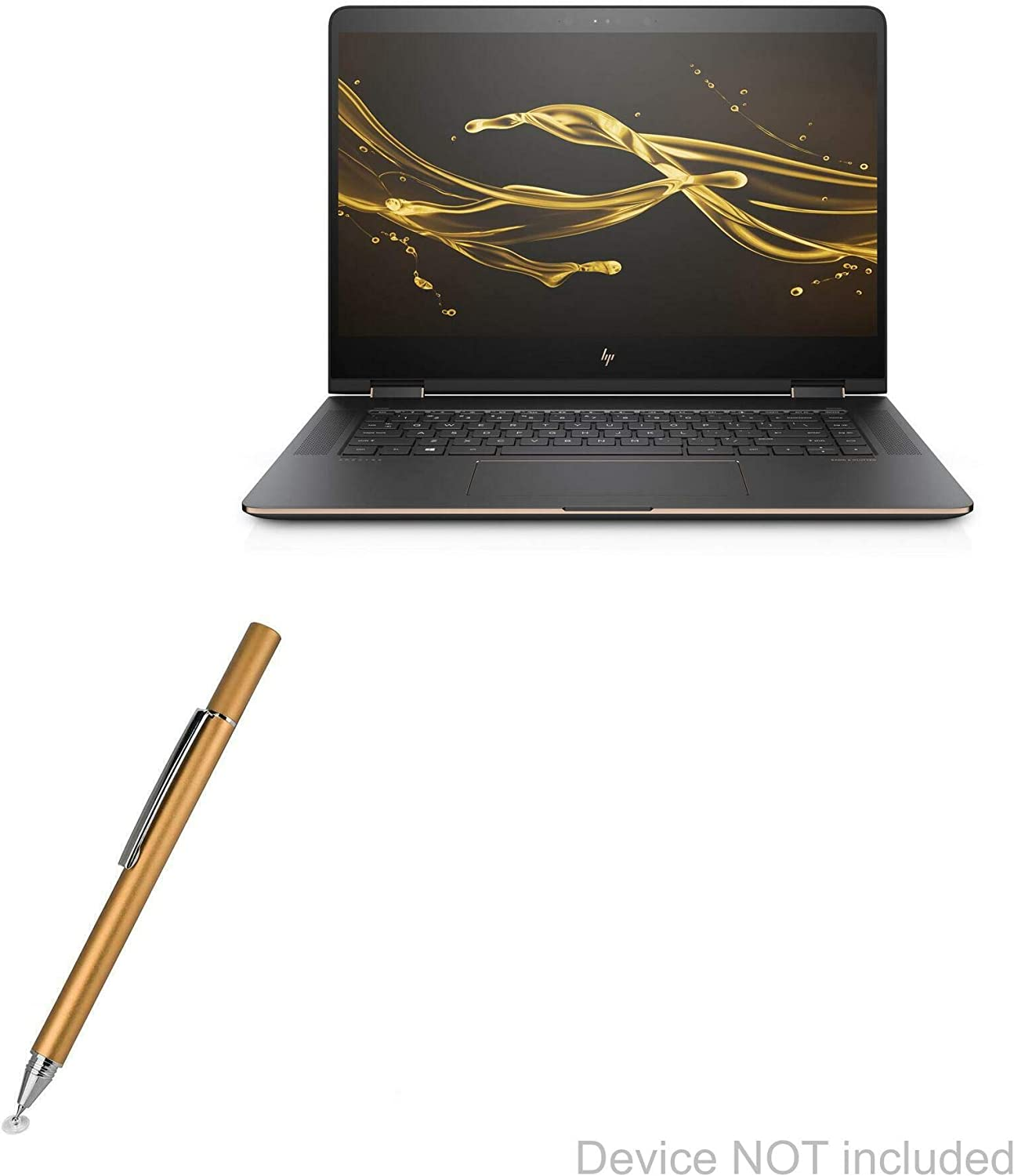 HP Spectre X360 Stylus Pen, BoxWave [FineTouch Capacitive Stylus] Super Precise Stylus Pen for HP Spectre X360 - Champagne Gold