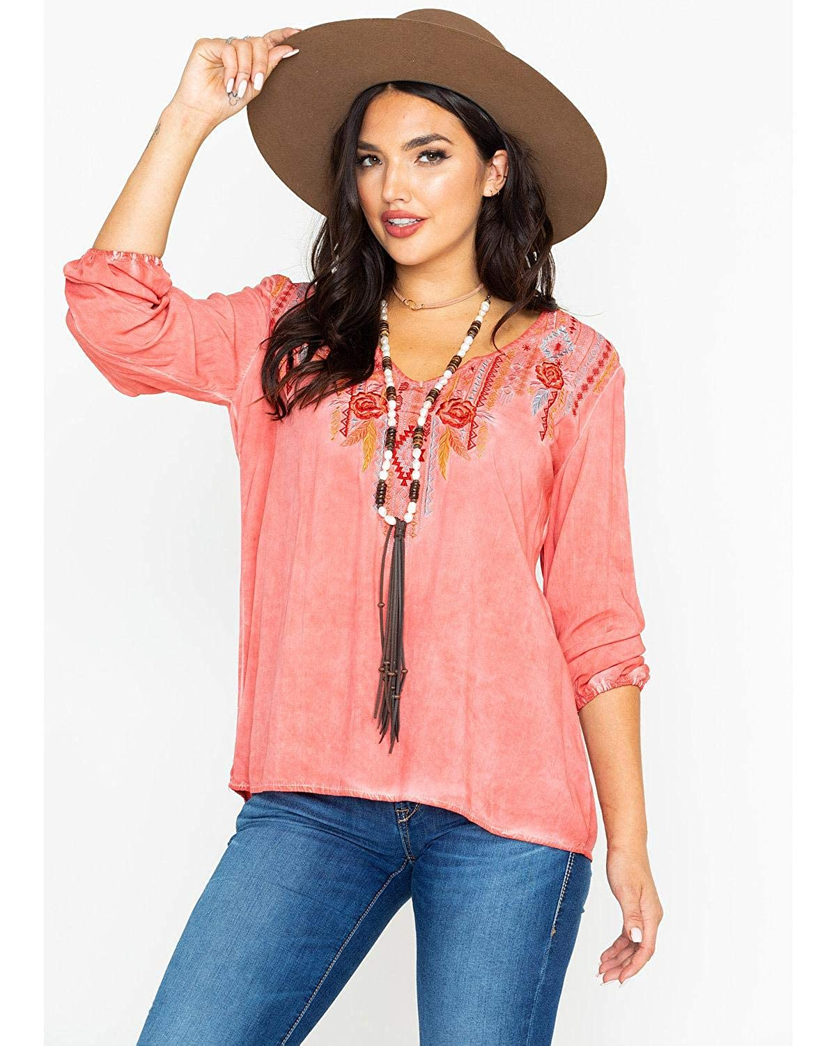 Panhandle Country Nights Embroidered Top