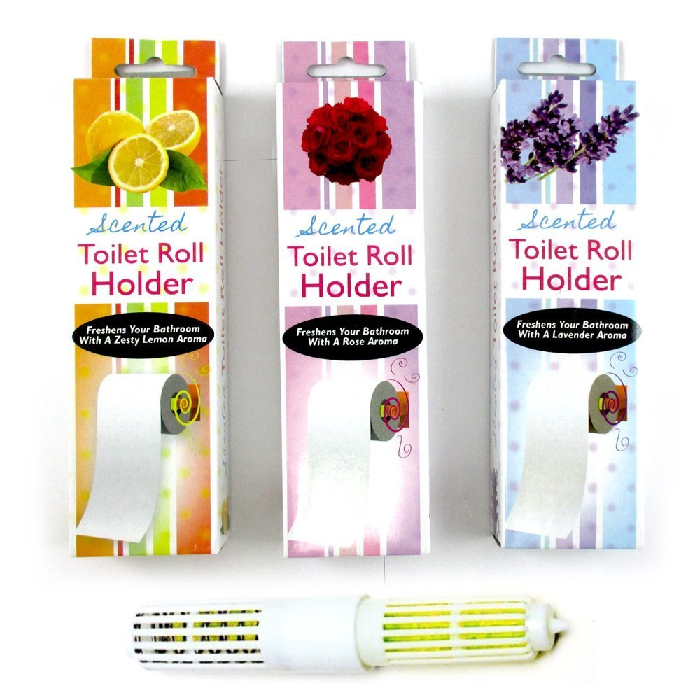 2 Scented Toilet Paper Rollers Tissue Roll Holder Replacement Spindle Bathroom !