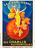 Vintage Beers, Wines and Spirits LA CHABLISIENNE, France, 1930's, by Henry Monnier. 250gsm Gloss Art Card Reproduction A3 Reproduction Poster