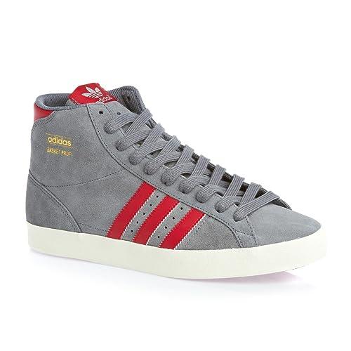 competitive price 62c38 c100d adidas Sneaker Alta Basket Profi Grigio Rosso EU 42