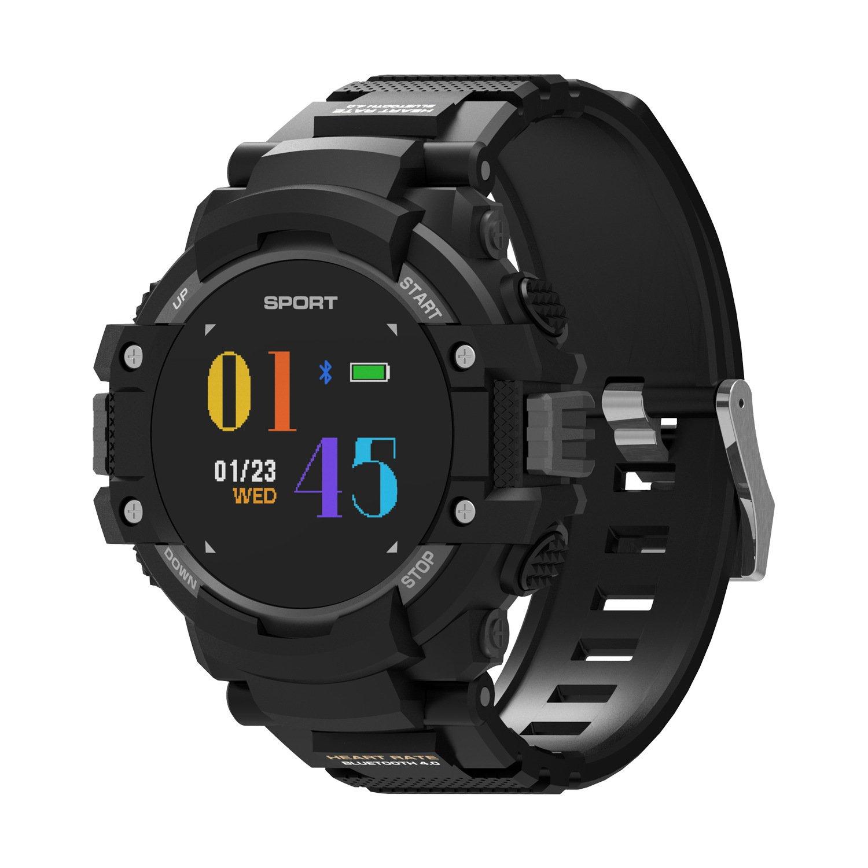 Sannii F7 GPS Smart Uhr Mann Farbe LCD Echtzeit Herzfrequenz Temperatur Monitor Multisport Outdoor Sport Fashion Smartwatch