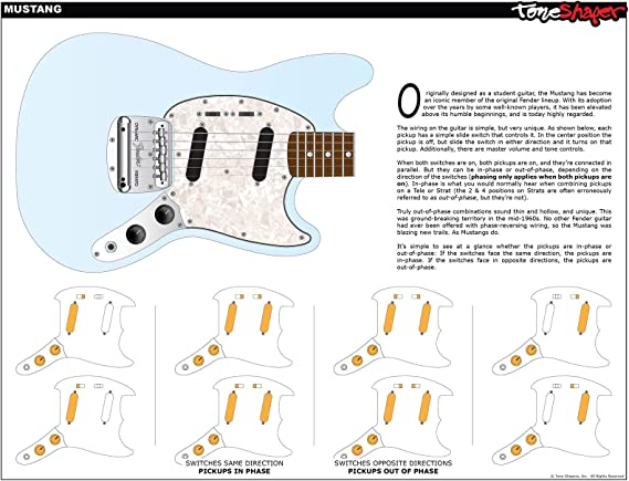 [DIAGRAM_1CA]  Amazon.com: ToneShaper Guitar Wiring Kit, For Fender Mustang (Black  Switches): Musical Instruments | Fender Guitar Wiring Diagrams Mustang Diagram |  | Amazon.com