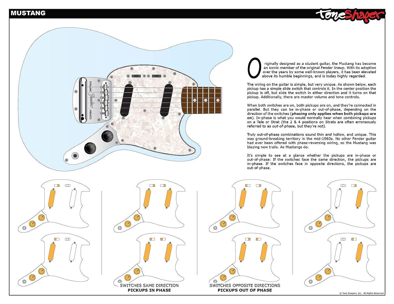 ToneShaper Kit de cableado para guitarra, para Fender Mustang (interruptores negros): Amazon.es: Instrumentos musicales