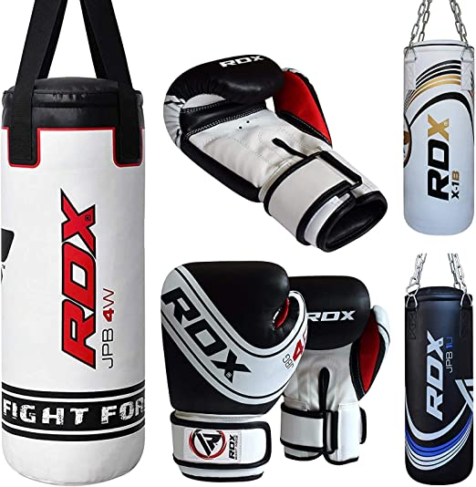 2FT Kids Bolsa de Boxeo Set MMA Artes Marciales Junior Relleno Punching Bag para Muay Thai RDX Ni/ño Saco de Boxeo y Guantes para Entrenamiento Sparring Kick Boxing