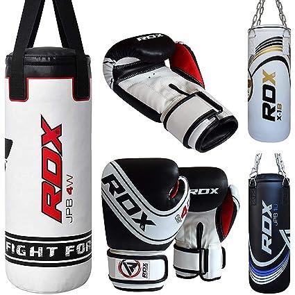 various styles the latest get online RDX Sac de Frappe Enfant Rempli Lourd Junior Punching Ball MMA Muay Thai  Kickboxing Arts Martiaux Boxe Gants Chaine Suspension Punching Bag